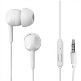 Sluchátka s mikrofonem Thomson EAR3005, silikonové špunty, bílá, 132480
