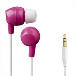 Dìtská sluchátka Thomson EAR3106, silikonové špunty, rùžová/bílá, 132509