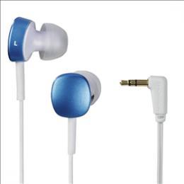 Sluchátka Thomson EAR3056, silikonové špunty, modrá/bílá, 132618