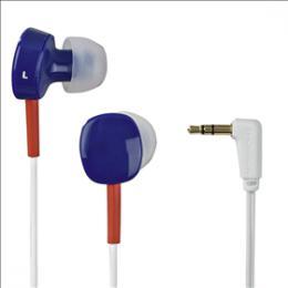Sluchátka Thomson EAR3056, silikonové špunty, modrá/èervená/bílá, 132619