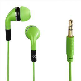 Sluchátka Hama Flip, silikonové špunty, zelená, 135637