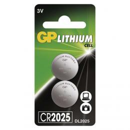 Lithiová knoflíková baterie GP CR2025, blistr 2 ks, B15253