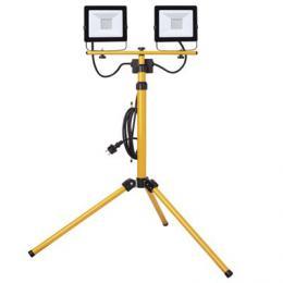 LED reflektor EMOS HOBBY SLIM 2x 30W + trojnožka, 4000K, 2x 2400lm, IP65, ZS2231.2