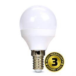 LED žárovka, miniglobe, 8W, E14, 4000K, 720lm, bílé provedení, Solight WZ430