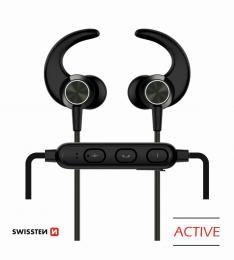 Bezdrátová stereo sluchátka Bluetooth Swissten Active èerné