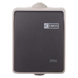Pøepínaè 250 V/10 AX IP54 1 tlaèítko, EMOS A1398