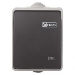 Pøepínaè 250 V/10 AX IP54 1 tlaèítko, EMOS A1398.2