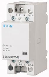 Instalaèní stykaè Z-SCH230/25-40, 230VAC/50Hz, 4S, 25A, 2HP, Eaton 248847