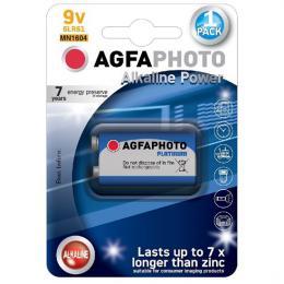 Power alkalická baterie 9V, blistr 1ks, AgfaPhoto AP-6LR61-1B
