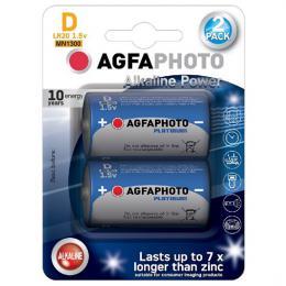 Power alkalická baterie LR20/D, blistr 2ks, AgfaPhoto AP-LR20-2B