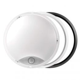LED pøisazené svítidlo s pohyb. èidl., kruhové è/b 14W t.b., EMOS ZM3131