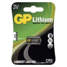 Lithiová baterie GP CR2 pro fotografická zaøízení, B1506, blistr 1 ks