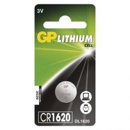 Lithiová knoflíková baterie GP CR1620, B15701, blistr 1 ks