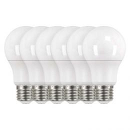 LED žárovka Classic A60 9W E27 neutrální bílá 4100K, 806lm, 6ks, EMOS ZQ5141.6