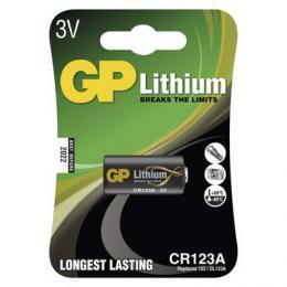 Lithiová baterie GP CR123A 3V B1501 FOTO blistr 1 ks