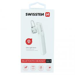 Bluetooth Headset (Handsfree) SWISSTEN ULTRA LIGHT UL-9 bílý, 51105100