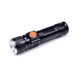 LED kapesní nabíjecí svítilna, 3W, 200lm, USB, Li-ion, Solight WN31
