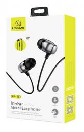 Stereo sluchátka USAMS EP-36 In-Ear Steel Stereo Headset 3,5mm Tarnish (EU Blister)