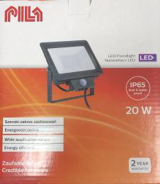 LED venkovní reflektor s èidlem Pila L/06017 èerný 20W 1700lm 4000K IP65 IK06