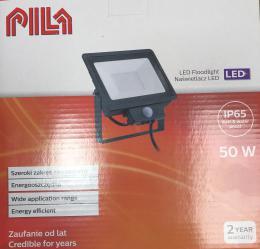 LED venkovní reflektor s èidlem Pila L/06018 èerný 50W 4250lm 4000K IP65 IK06