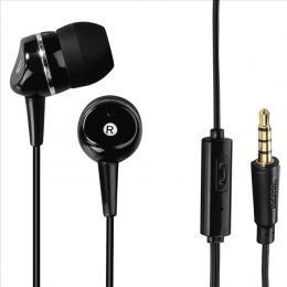 Sluchátka s mikrofonem Hama Talk, silikonové špunty, èerná
