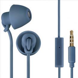 Sluchátka s mikrofonem Thomson EAR3008 Piccolino, mini špunty, modrá