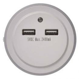 LED noèní svìtlo P3313 do zásuvky s 2x USB, EMOS P3313