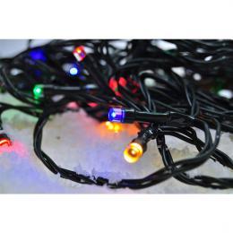 LED venkovní vánoèní øetìz, 300 LED, 30m, pøívod 5m, 8 funkcí, èasovaè, IP44, vícebarevný, Solight 1V04-M