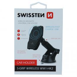 Magnetický držák do auta Swissten s bezdrátovým nabíjením S-GRIP WM1-HK2