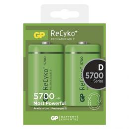 Nabíjecí baterie GP ReCyko+ 5700 (D) velké monoèlánky 2 ks B0842