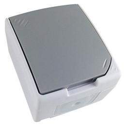 Zásuvka do vlhka IP54, šedá, Solight 5B305