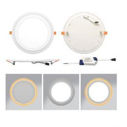 LED svítidlo vestavné Ecolite 12W DUO LED-DUO-R12W, kruh, 2700/4000K, 900+100lm, IP20