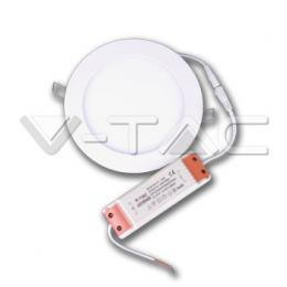 LED vestavné svítidlo Premium Panel Downlight V-Tac 18W, 6400K, 1500lm, IP20, Round White SKU 4862
