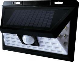 LED pøisazené nástìnné solární svítidlo EMA SOLAR PIR 34LED NW, 4000K, 200/20lm, IP65, Greenlux GXSO003