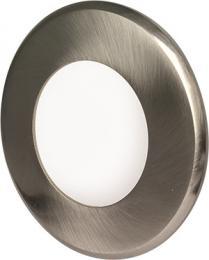 LED vestavné svítidlo LED15 VEGA-R Matt Chrome 3W NW, 3800K, 190lm, IP20, Greenlux GXDW210