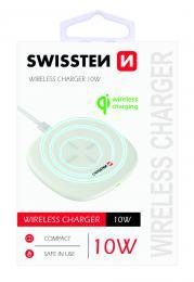 Bezdrátová nabíjeèka Swissten Wireless 10W bílá 22055501
