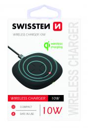 Bezdrátová nabíjeèka Swissten Wireless 10W èerná