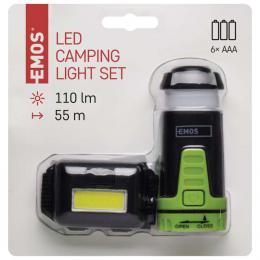 Sada LED èelovky a kempingové LED svítilny, 3x AAA/3x AAA, EMOS P4007
