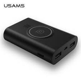 Powerbank USAMS US-CD31 vè. Bezdrátového dobíjení Black (blister)