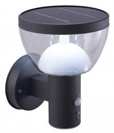 LED pøisazené solární nástìnné svítidlo LARIX SOLAR PIR 20 NW, 4000K, 80/200/280lm, IP44, Greenlux GXSO010