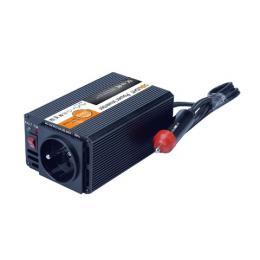 Invertor - mìniè napìtí 12V, USB 500mA, kovový, èerný, max. zatížení: 200W, Solight IN05 - zvìtšit obrázek
