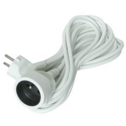 Prodlužovací kabel - spojka, 1 zásuvka, bílá, 15m, 3 x 1mm2, Solight PS19