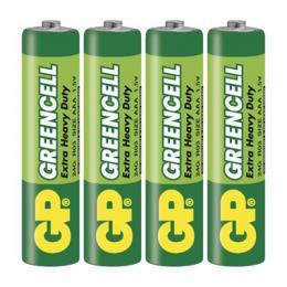 Zinková baterie GP Greencell AAA (R03) 4ks blistr B1211