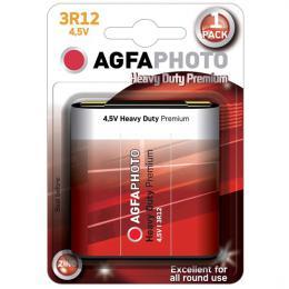 Zinková baterie AgfaPhoto 3R12 4,5V, blistr 1ks, AP-3R12-1B