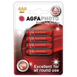 Mikrotužkové zinkové baterie AgfaPhoto R03 AAA, blistr 4ks, AP-R03-4B