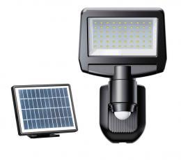 LED bateriové solární svítidlo se solárním panelem a PIR TOMI SOLAR 10W NW, 4000K, 1100lm, IP44, Greenlux GXSO015