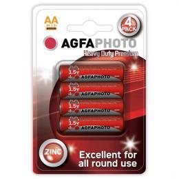 Tužkové zinkové baterie AA AgfaPhoto R06/AA, blistr 4 ks, AP-R06-4B