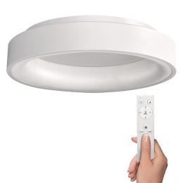 LED stropní svìtlo kulaté Treviso, 48W, 2880lm, stmívatelné, dálkové ovládání, bílá, Solight WO768-W
