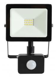 LED reflektor s pohybovým senzorem TOMI SMD 10W, 6000K, 950lm, IP44, Greenlux GXLR018