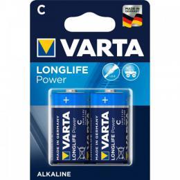Alkalická baterie Varta Longlife Power LR14 C, malé mono, blistr 2 ks